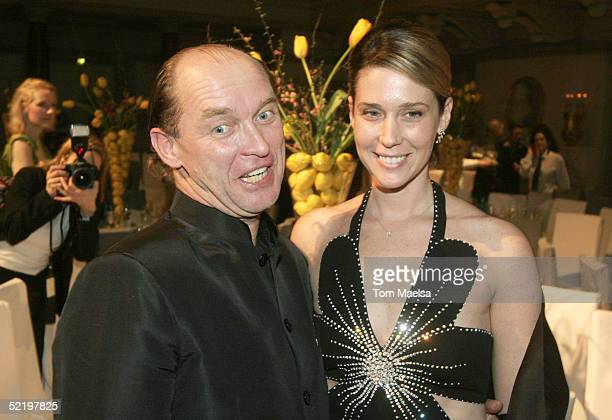 Calle von Bismarck with girlfriend attend at the Cinema For Peace Awards After Party on February 14 2005 in Berlin Germany