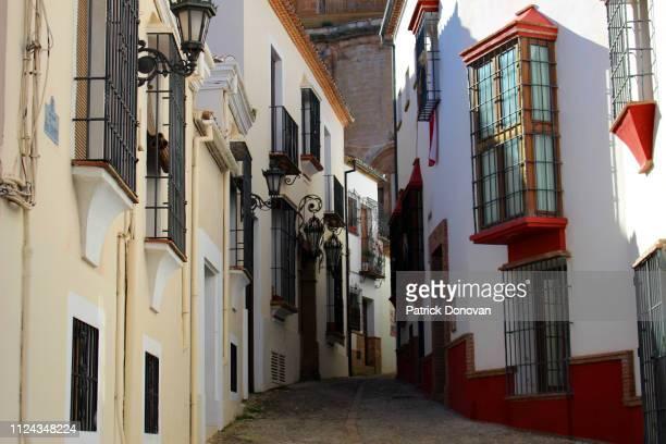 callejon de los tramposos, ronda, spain - callejon stock pictures, royalty-free photos & images