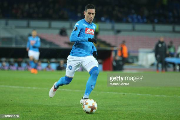 Callejon in action during football match between Napoli Lipsia Napoli lost the match 13 to Lipsia