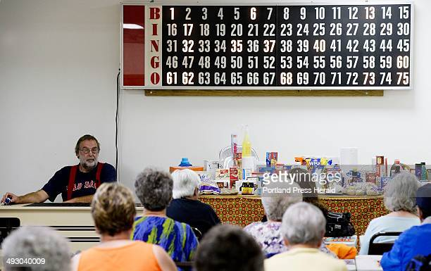 Caller Michael O'Brien calls out the numbers during a game of Bingo at the Eagle Lake Senior Center Aug 26 2013