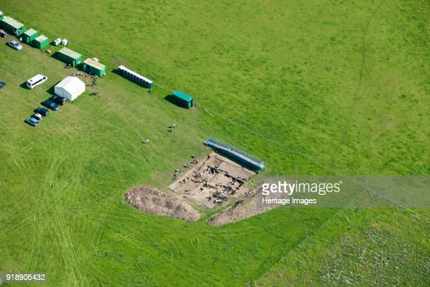 Calleva Roman town Silchester Hampshire 2015 An archaeological excavation in progress Artist Damian Grady