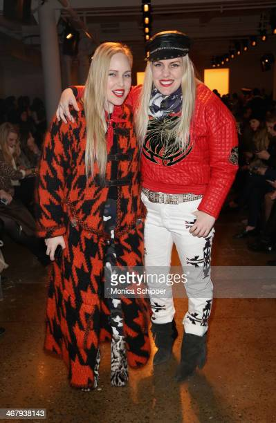 Callie Beckerman and Sam Beckerman attend Alexandre Herchcovitch fashion show during MADE Fashion Week Fall 2014 at Milk Studios on February 8 2014...