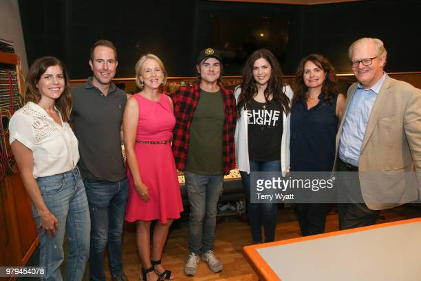 Callie Cunningham Tommy Moore Elizabeth Roof Producer Ross Copperman Singersongwriter Hillary ScottLorie Lytle and Stuart Dill attend ACM Lifting...
