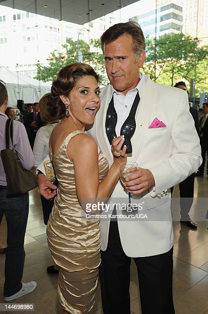 Callie Thorn and Bruce Campbell attend USA Network Upfront 2012 after party at Alice Tully Hall at Lincoln Center on May 17 2012 in New York City