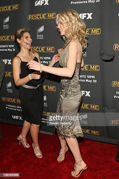 Callie Thorne and Andrea Roth during The Season Three New York Premiere Screening of 'Rescue Me' arrivals at The Ziegfeld Theater in New York New...