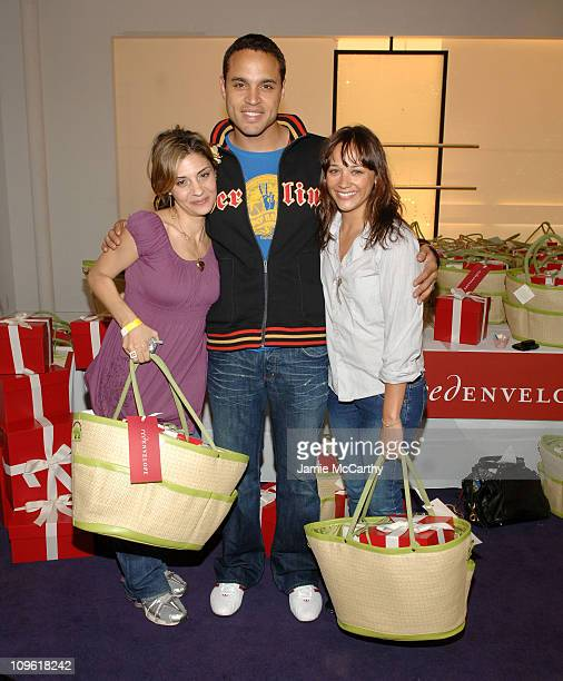 Callie Thorne, Daniel Sunjata and Rashida Jones during Red Envelope Hero Lounge at The Elizabeth Glaser Kids for Kids Carnival at Diane Von...
