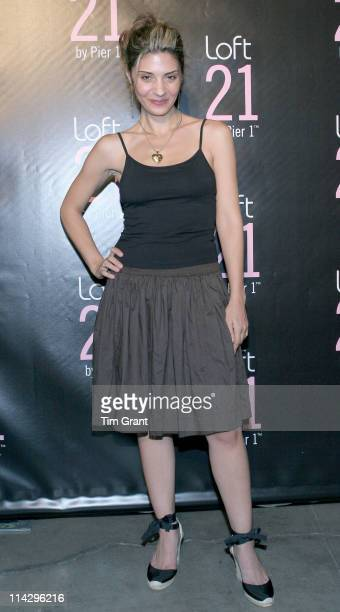 Callie Thorne during Pier 1 Launches Loft 21 June 27 2006 in New York City New York United States
