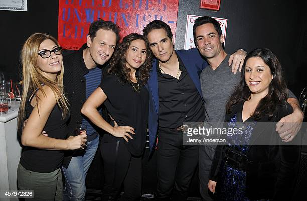 Callie Thorne Josh Charles Elizabeth Rodriguez Yul Vasquez Danny Pino and Lily Pino attend Labyrinth Theater Company's Celebrity Charades 2014...