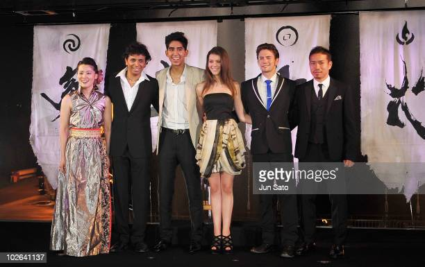 Calligrapher Shishu director M Night Shyamalan actor Dev Patel actress Nicola Peltz actor Jackson Rathbone and football player Yuto Nagatomo of FC...