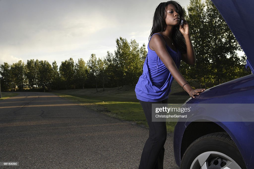 Calling for help : Stock Photo