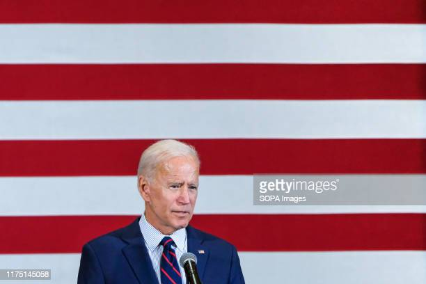 Calling for Trumps impeachment former Vice President and presidential candidate Joe Biden campaigns in Manchester New Hampshire