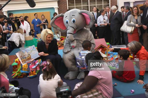 Callista Gingrich wife of Republican presidential candidate and former Speaker of the House Newt Gingrich prepares to read a children's book Sweet...