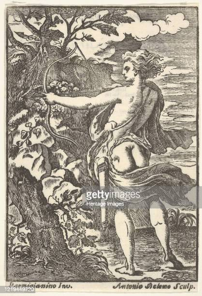 Callisto hunting with drawn bow, after Parmigianino), 1720-1740. After Parmigianino. Artist Antonio Belemo.