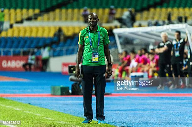 Callisto Pasuwa head coach of Zimbabwe during the African Nations Cup match between Zimbabwe and Tunisia on January 23 2017 in Libreville Gabon