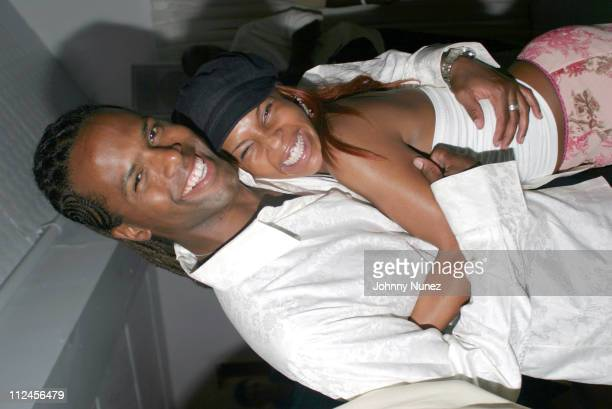 AJ Calloway and Free during AJ Calloway's Birthday at Resort in East Hampton New York United States