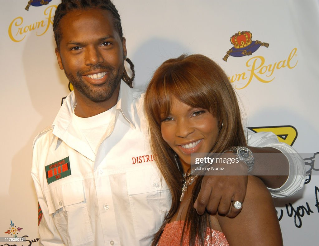 AJ Calloway and Free during Free Presents Break!Celebrity Pool Tournament 2004 - Arrivals at Slate in New York City, New York, United States.