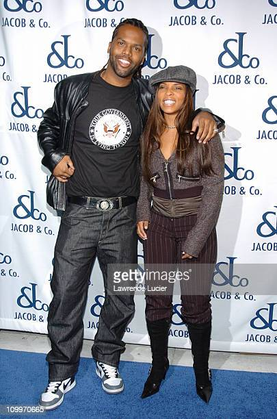 AJ Calloway and Free during Jacob Co Flagship Boutique Grand Opening at Jacob Co Boutique in New York City New York United States