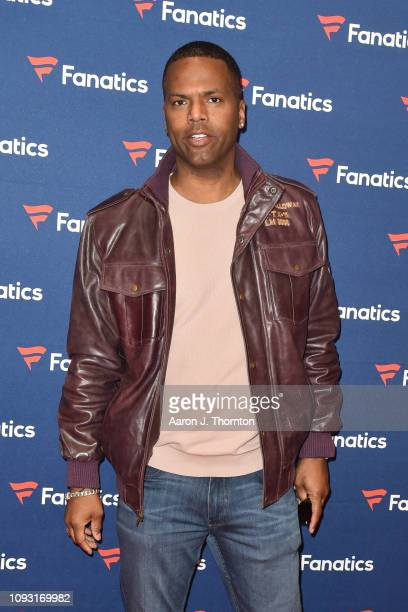 J Calloway arrives to Michael Rubin's Fanatics Super Bowl Party at the College Football Hall of Fame on February 2 2019 in Atlanta Georgia