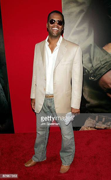 J Calloway attends the premiere of Miracle at St Anna at Ziegfeld Theatre on September 22 2008 in New York City