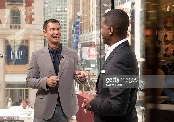 Calloway interviews actor Jeff Lewis during his visit to 'Extra' at HM Times Square on July 13 2016 in New York City