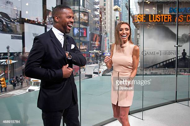 Calloway interviews Giuliana Rancic during her visit to 'Extra' at their New York studios at HM in Times Square on April 8 2015 in New York City