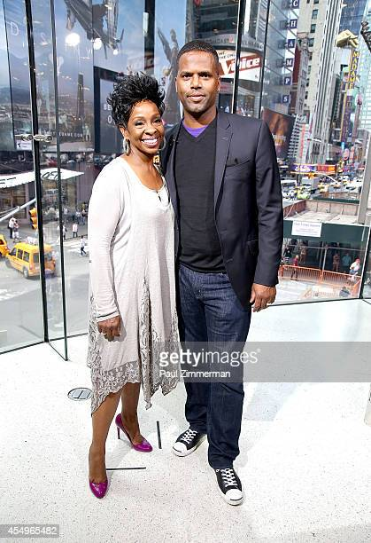 Calloway interviews Gladys Knight during her visit to 'Extra' at their New York studios at HM in Times Square on September 8 2014 in New York City