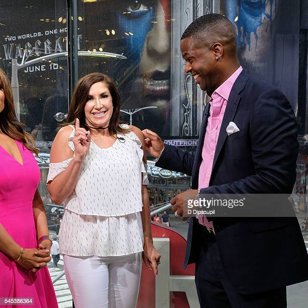 Calloway interviews Jacqueline Laurita during her visit to Extra at their New York studios at HM in Times Square on July 7 2016 in New York City