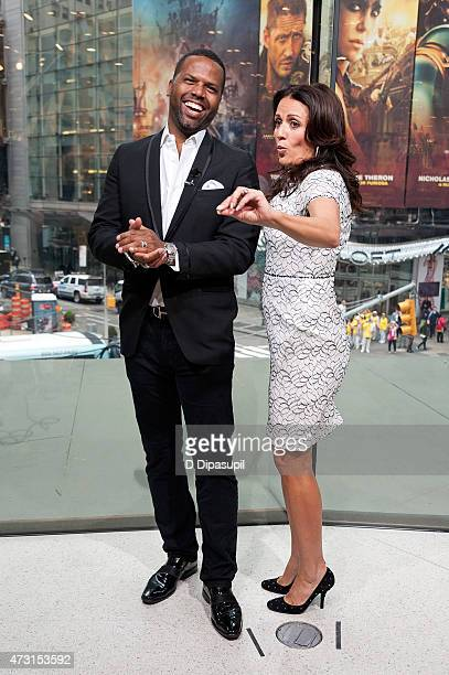 Calloway interviews Jenni Pulos during her visit to Extra at their New York studios at HM in Times Square on May 13 2015 in New York City