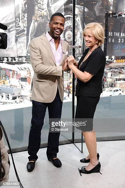 Calloway interviews Joan Lunden during her visit to Extra at their New York studios at HM in Times Square on June 10 2015 in New York City