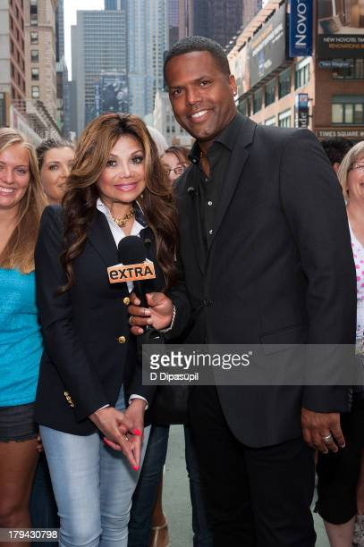 Calloway interviews La Toya Jackson during her visit to Extra in Times Square on September 3 2013 in New York City
