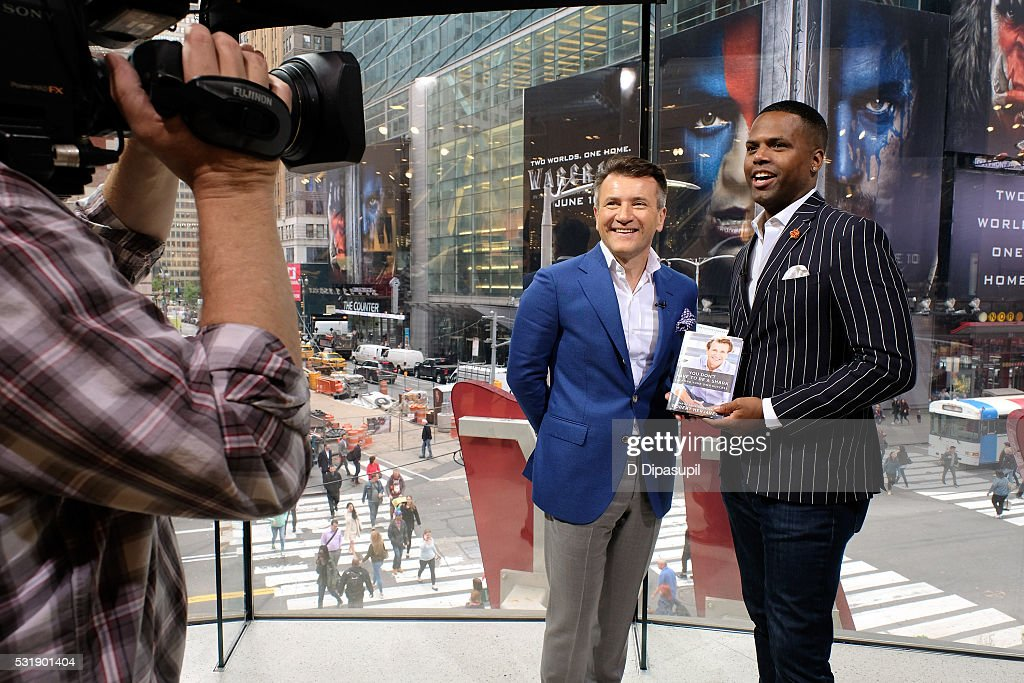 Aj Calloway Interviews Robert Herjavec During His Visit To Extra