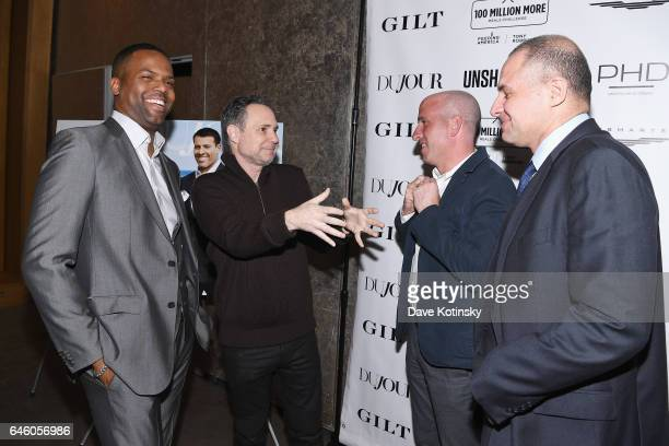"Calloway, Jason Binn, Jonathan Greller and Ronn Torossian attend Tony Robbins' Birthday celebration and book launch of ""UNSHAKEABLE"" presented by..."