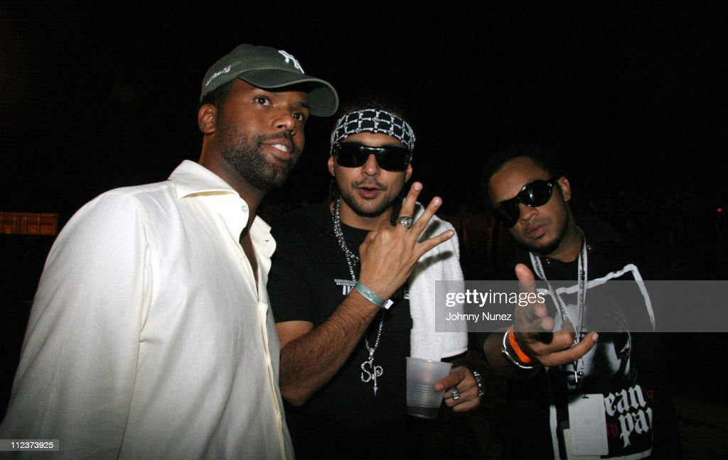 AJ Calloway, Sean Paul and Red during Power Summit Present Interscope Party at Tranquility in Freeport, Bahamas.