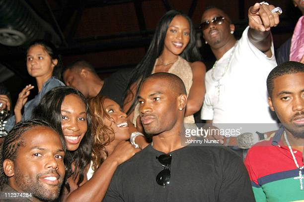 AJ Calloway Venus Williams Serena Williams Tyson Beckford Naomi Campbell Sean 'P Diddy' Combs and Nas