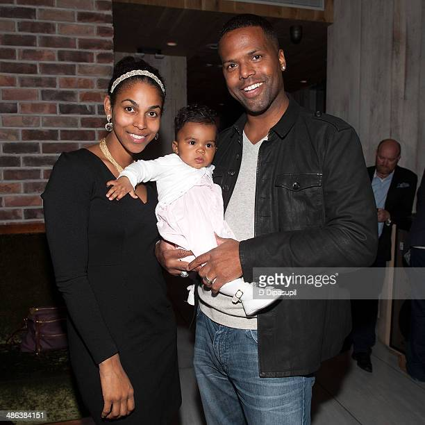 Calloway wife Dionne Walker and daughter Amy Belle Calloway attend Yvette Manessis Corporon's book party for When The Cypress Whispers at the Monarch...