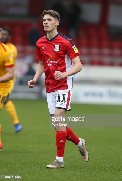 Callum Ainley of Crewe Alexandra in action during the Sky Bet League Two match between Crewe Alexandra and Northampton Town at Gresty Road on March...
