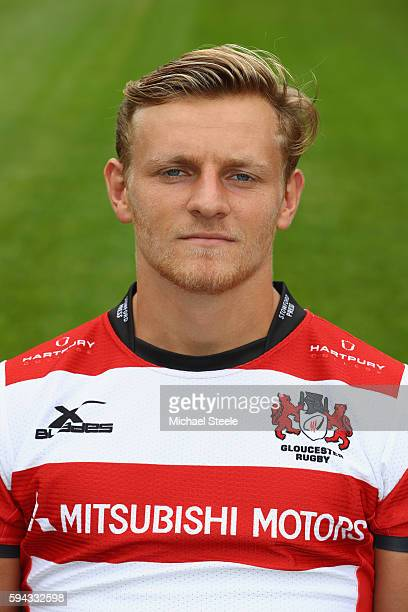Callum Braley poses for a portrait during the Gloucester Rugby squad photo call for the 20162017 Aviva Premiership Rugby season on August 22 2016 in...