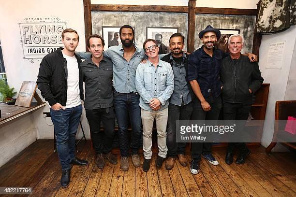 Callum Callaghan Jonjo O'Neill Nicholas Pinnock Gary Wallis Jason Kavam Alex Lanipekun and John Giddings attend a private view of FH Faces a series...