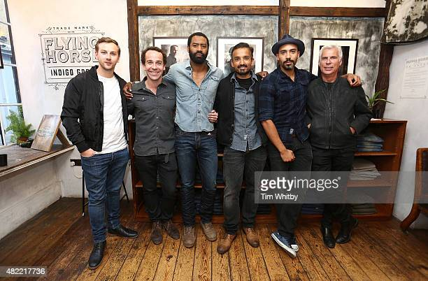 Callum Callaghan Jonjo O'Neill Nicholas Pinnock Jason Kavam Alex Lanipekun and John Giddings attend a private view of FH Faces a series of portraits...