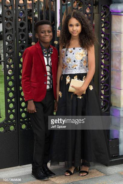 """Callum Daniel and Inspiring Vanessa attend the World Premiere of """"The House With The Clock In Its Walls"""" at Westfield White City on September 5, 2018..."""