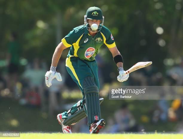 Callum Ferguson of Australia A bats during the Quadrangular One Day Series match between Australia A and India A on July 20 2014 in Darwin Australia