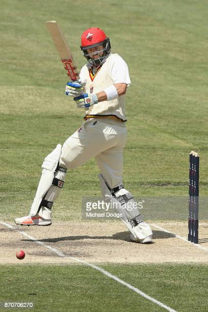 Callum Ferguson of South Australia bats during day three of the Sheffield Shield match between Victoria and South Australia at Melbourne Cricket...
