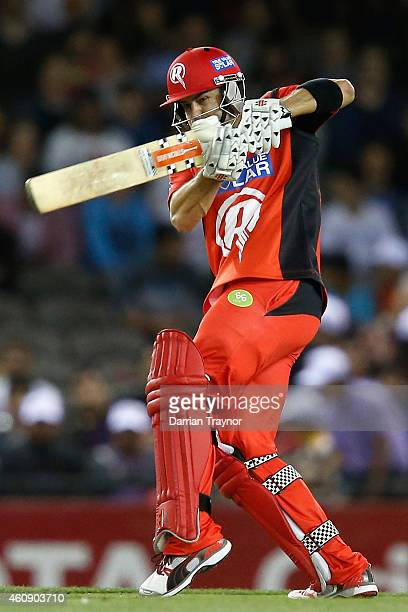 Callum Ferguson of the Melbourne Renegades bats during the Big Bash League match between the Melbourne Renegades and the Sydney Thunder at Etihad...