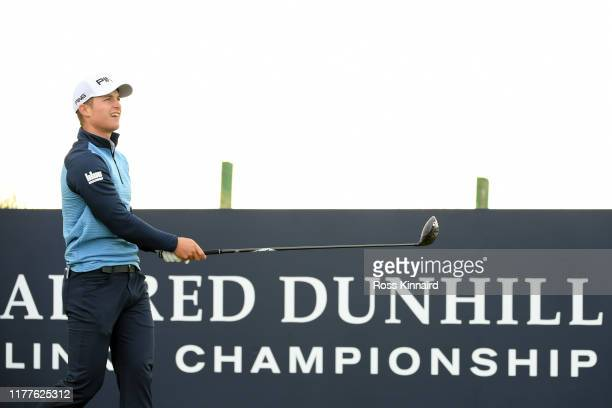 Callum Hill of Scotland tduring Day three of the Alfred Dunhill Links Championship at Carnoustie Golf Links on September 28 2019 in St Andrews United...