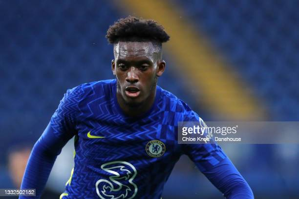 Callum Hudson Odoi of Chelsea FC during the Pre Season Friendly between Chelsea and Tottenham Hotspur at Stamford Bridge on August 04, 2021 in...