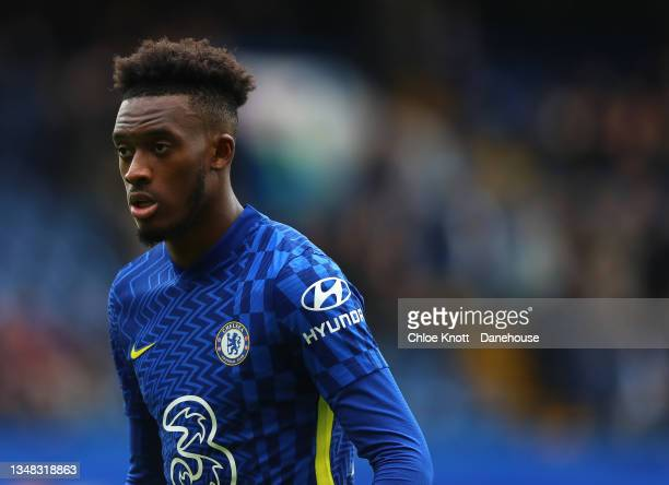 Callum Hudson Odoi of Chelsea FC during the Premier League match between Chelsea and Norwich City at Stamford Bridge on October 23, 2021 in London,...