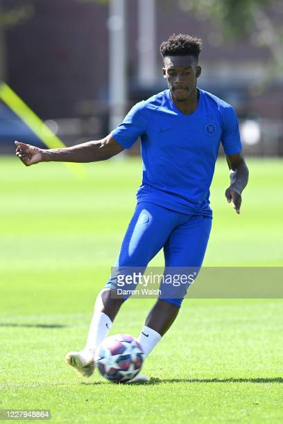 Callum HudsonOdoi of Chelsea during a training session at Chelsea Training Ground on August 7 2020 in Cobham England