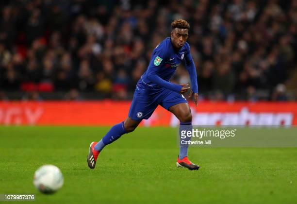 Callum HudsonOdoi of Chelsea during Carabao Cup SemiFinal between Tottenham Hotspur and Chelsea at Wembley Stadium on January 8 2019 in London England