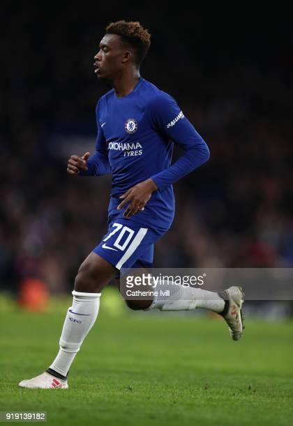 Callum HudsonOdoi of Chelsea during The Emirates FA Cup Fifth Round match between Chelsea and Hull City at Stamford Bridge on February 16 2018 in...