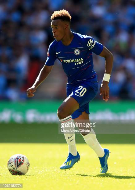 Callum HudsonOdoi of Chelsea during the FA Community Shield between Manchester City and Chelsea at Wembley Stadium on August 5 2018 in London England